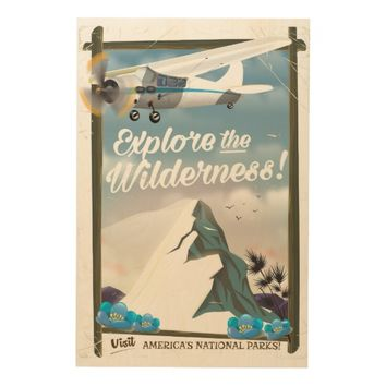 Explore the Wilderness! Mountains Wood Wall Art