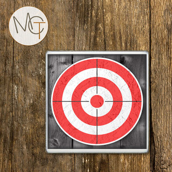 Target Practice Coasters, Hunting Bar Coasters, Hunting Decor, Drink Coasters, Shooting, Hot and Cold Drinks, Manly Decor, Made To Order