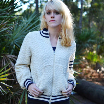 Vintage Knitted Varsity Jacket