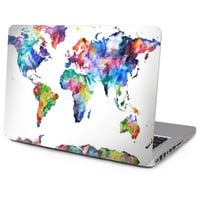 """6 patterns Laptop Top Vinyl Decal for Macbook Front Full Sticker World Continent Map Skin for Air Retina Pro 11"""" 12"""" 13"""" 15"""""""