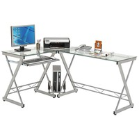 Techni Mobili L-Shaped Computer Desk (White)