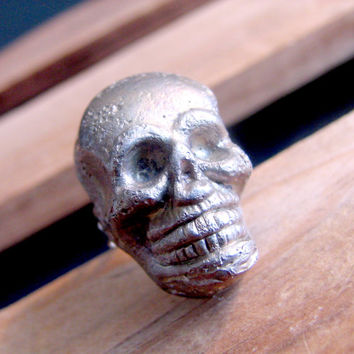 Unisex Skull Ring - Pewter Skull Ring - Mens Ring - Gothic Ring - Gothic Skull Ring - Gifts For Him - Gifts Under 10 - Costume Jewelry