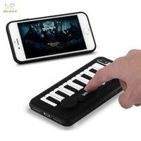 MLR 3D Piano Music Keys Holder Soft Silicone Phone Cases for iPhone 6 6s plus 7 8 Plus Make Sound Voice Phone Cover Coque