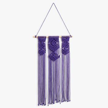 Purple Crochet Wall Hanging