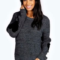 Zoe Heart Elbow Patch Jumper