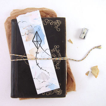 Kite Watercolor Bookmark - Original Painting - Gift for Book Lover