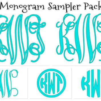 Interlocking and Circle Monogram Sampler 5 pack