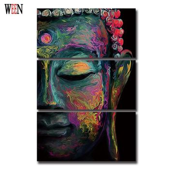 3pcs buddha art canvas painting Wall art abstract buddha meditation painting Picture Canvas poster Modern living room Decorative