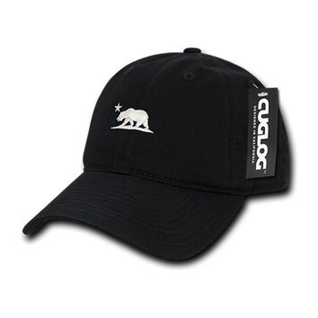 Cali Bear Dad Hat in Black by Cuglog