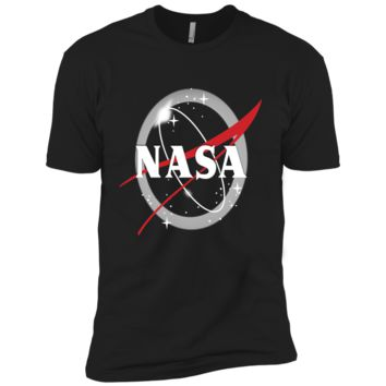 NASA Classic Logo Atop Total Solar Eclipse Graphic T-Shirt Next Level Premium Short Sleeve T-Shirt