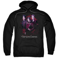 VAMPIRE DIARIES/COMPANY OF THREE-ADULT PULL-OVER HOODIE-BLACK