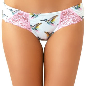 Hummingbirds and Pink Lace Love Scent Bikini