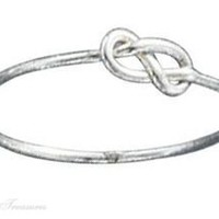 Sterling Silver Infinity Symbol Knot Wire Ring