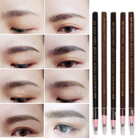 Hot Sale Soft Crayon Waterproof Eyebrow Eyeliner Pencil 5 Colors Fashion Women Beauty Makeup Eyebrow Enhancer