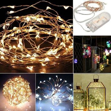DKF4S Outdoor Garden Christmas Decoration String Fairy Fantastic Light Battery Operated Christmas Light Party Wedding Decor Lamp