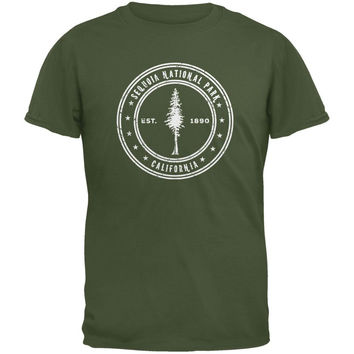 Sequoia National Park Military Green Youth T-Shirt