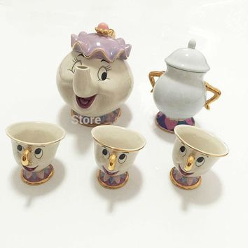 Beauty and the beast tea pot set