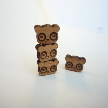 Panda Stud Earrings by VectorCloud on Etsy