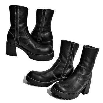 SOLD Women's Boots, ankle boots, black boots, leather boots, high heel boots
