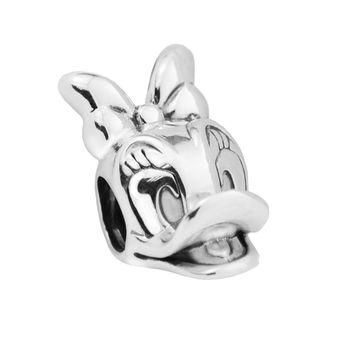 Sterling-Silver-Jewelry Disny Daisy Duck Portrait Beads Fits Pandora Charms Bracelets