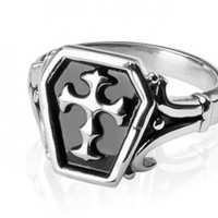 316L Surgical Stainless Steel Rings/Celtic Cross - Size:11