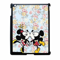 Mickey Kiss Minnie Disney Flowers iPad 2 Case