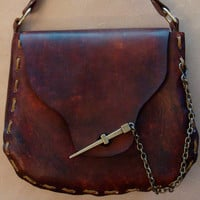 Kim Handmade Brown Leather Crossbody Bag - Shoulder Bag - Purse - Handbag