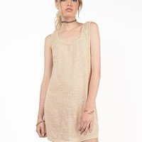 Knit Scoop Back Dress - Small