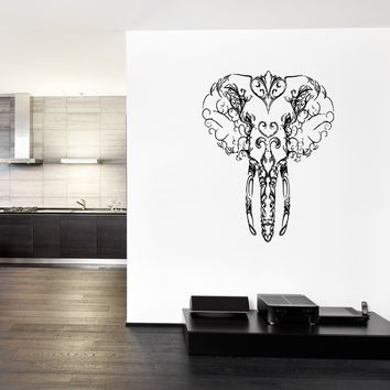 ik291 Wall Decal Sticker Decor Indian elephant monograms interior bed