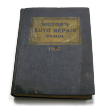 1965 Motors Auto Repair Manual - 28th Edition Book - Huge Instructional Book Hardcover - Buick Ford Chevy Cadillac Oldsmobile Jeep Chrysler