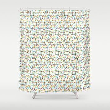 Scribbled Unicorns Shower Curtain by That's So Unicorny