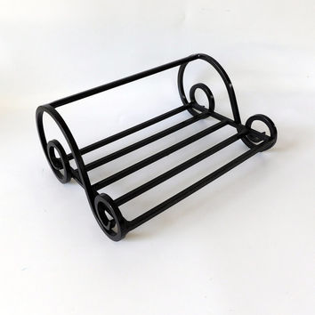 Black Wrought Iron Cooling Rack Book Stand Sheet Music Holder Pot Holder Drying Rack Kitchen Vintage Home Decor Shelf Baking Stand Metal
