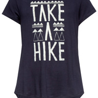 Full Tilt Take A Hike Girls Tee Navy  In Sizes