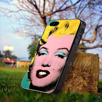 Andy Warhol Marilyn Monroe Pop Art Iconic Colorful Superstar - for iPhone 4/4s, iPhone 5/5S/5C, Samsung S3 i9300, Samsung S4 i9500