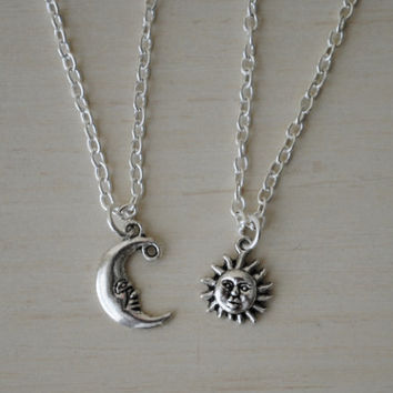 Shop moon friendship necklace on wanelo sun and moon friendship necklace aloadofball Images