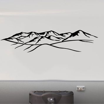 Set of Mountains Decal RV Camper Motor Home Sticker Mountain Scene