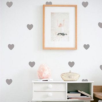Little Hearts Wall Stickers Wall Decals, Removable Home Decoration Art Wall Decals Baby Girl Room Modern Decor Free Shipping