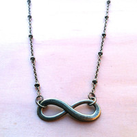 "Forever Infinity Necklace - ""Forever and Always"" - Valentines"