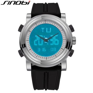 SINOBI Digital Watch Mans Sports Chronograph Wristwatch Big Stock Men and Women's Quartz Watches Stopwatch Running Clocks