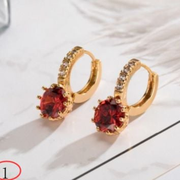 New colorful diamond zircon earrings