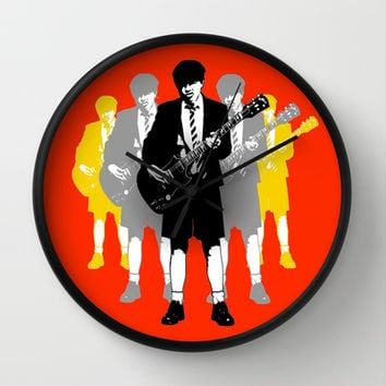 Angus Young - Wall Clock by Society6