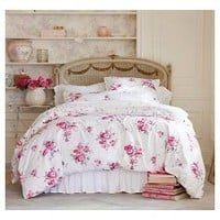 Simply Shabby Chic® Sunbleached Floral Duvet Set - Pink (Full/Queen) : Target