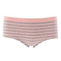 STRIPED SEAMLESS HIPSTER PANTIES