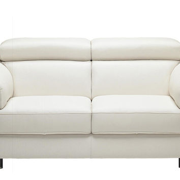 Color Customizable Leather Loveseat Sofa Torre by Natuzzi Editions