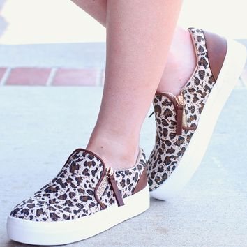 Not Rated: Timbre New Leopard Slide Sneakers