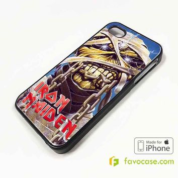 IRON MAIDEN Heavy Metal Band iPhone 4/4S 5/5S/SE 5C 6/6S 7 8 Plus X Case Cover