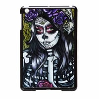 Floral Sugar Skull Day Of The Dead iPad Mini Case