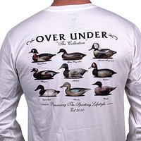 The Collection Long Sleeve Tee in White by Over Under Clothing