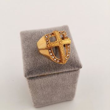 Boys & Men Fashion Hip Hop Cross Ring