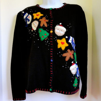 Tacky Christmas Sweater Small by Ambra